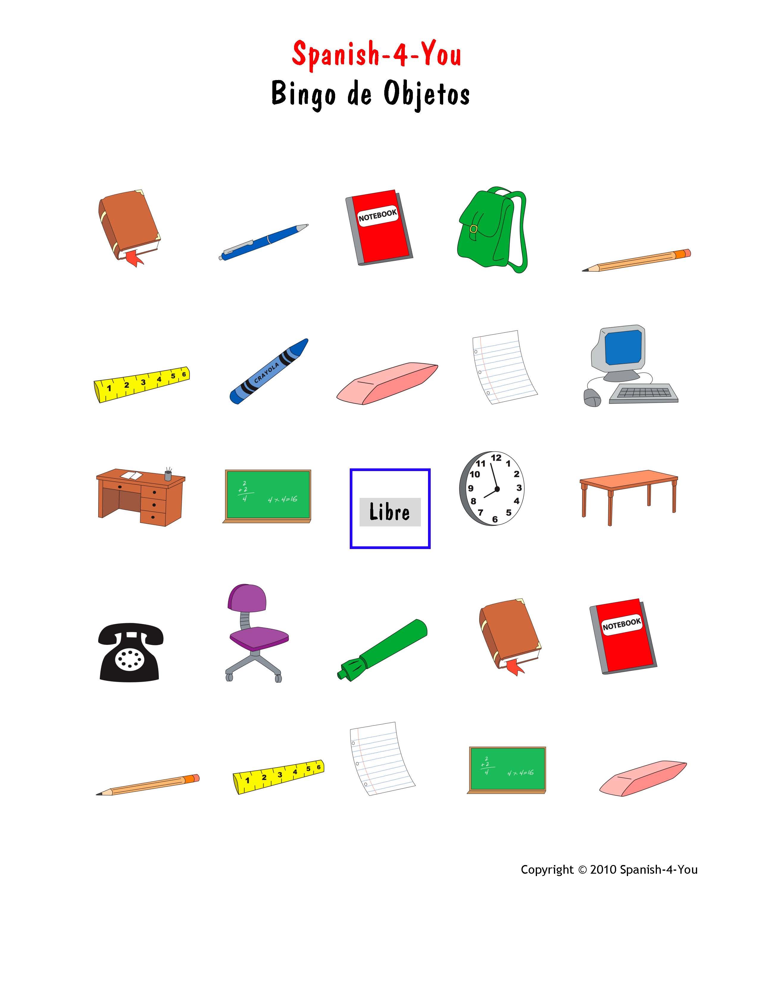 Spanish 4 You Blog: The power of Bingo in Spanish classes